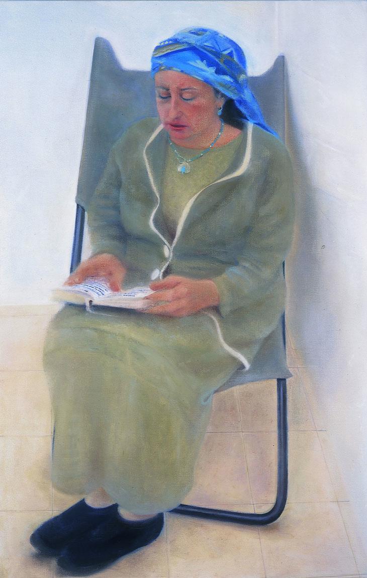 """סיגל, 2001, שמן על בד, 100/85 ס""""מ"""