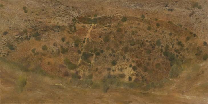 Wadi, 2010, oil on canvas, 100 X 50 cm