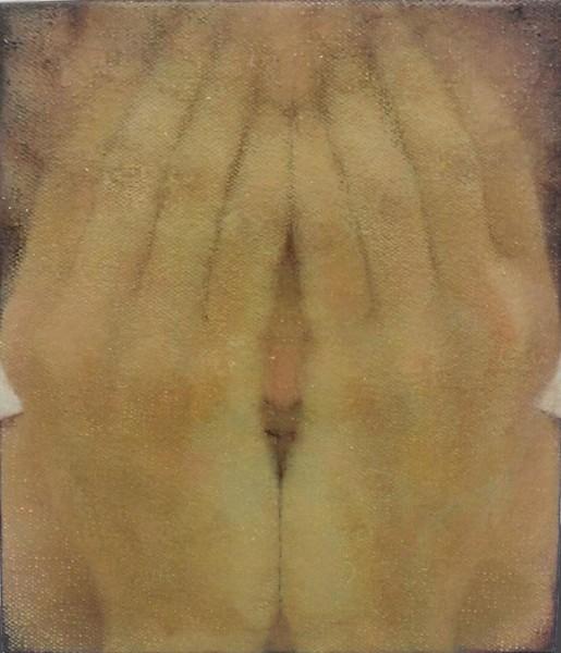 Hidden Blessing, 1997, oil on canvas, 19 X 15 cm